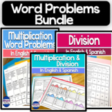 Bilingual Multiplication and Division Word Problems Bundle