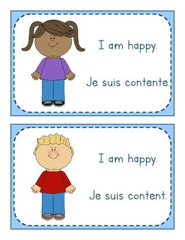 My Feelings - Mes Émotions FLASHCARDS (Bilingual English & French)