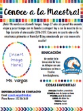 Spanish Newsletter for Meet the Teacher!
