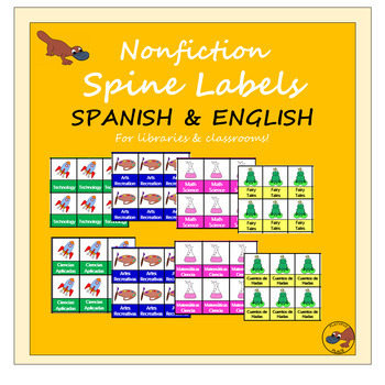 Bilingual Nonfiction Spine Labels Spanish & English