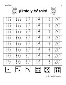 Bilingual November Kindergarten Math Worksheets (and Centers) English Spanish