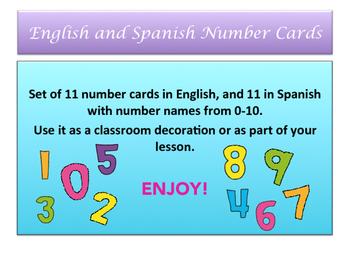 Bilingual Number Cards