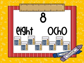 Bilingual Number Cards for Little Learners