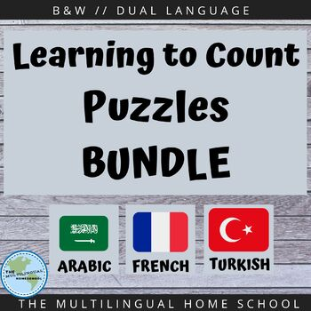 Bilingual Number Counting Puzzles BUNDLE#2