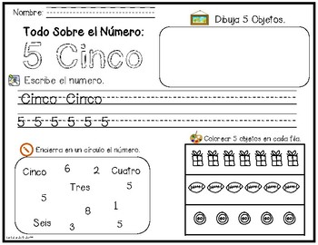 Bilingual Number Exploration 1-10 - Spanish and English