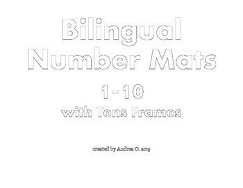 Bilingual Number Mats 1-10