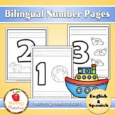 Bilingual Number Pages (1 - 10) English & Spanish
