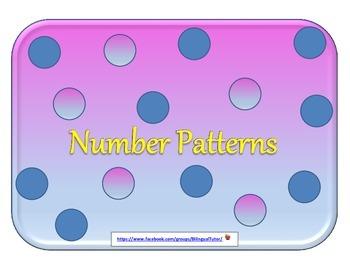 Bilingual Number Patterns (English & Spanish)