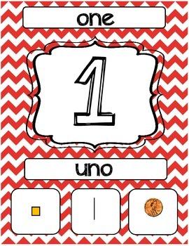 Bilingual Number Posters -10