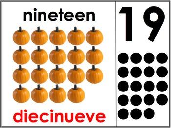 Bilingual Number Posters 11-20