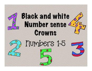 Bilingual Number Sense Crowns-Numbers 1-5