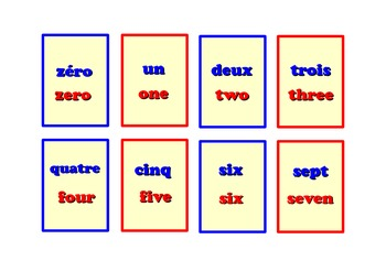 Bilingual Number Snap Cards  .French and English