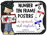 Bilingual Number Ten Frame Posters #1-20 GBA