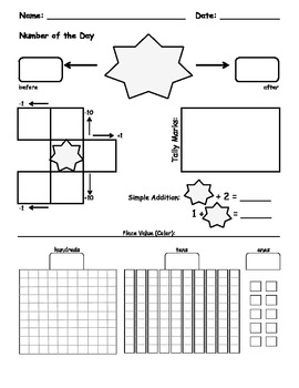 Bilingual Number of the Day (Set of 3 printables in 3 formats)