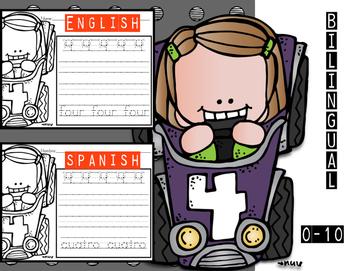 Bilingual Numbers 0-10