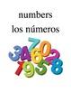 Bilingual Numbers English and Spanish