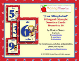Bilingual Olympic Number Cards
