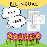Bilingual PK-1st Grade Spring Sampler Pack (Spanish-English)