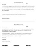 Bilingual Parent History Request Cover Sheet - English and