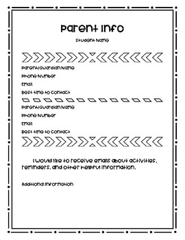 Bilingual Parent/Student Information Sheet