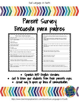 Bilingual Parent Survey for Beginning of the Year