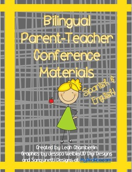 Bilingual Parent Teacher Conference Material Packet Spanis