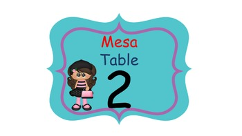 Bilingual Paris Classroom Helper  Welcome Banner And Tables Signs