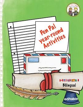Bilingual PenPal Activies ~Year-Round ~ Spanish & English