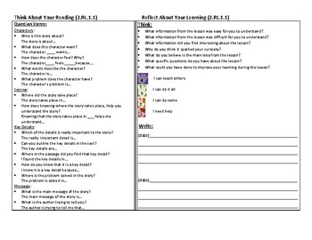 Bilingual Performance Scale and Question Stems Reading Literature 2nd grade