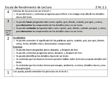 Bilingual Performance Scale and Question Stems Reading Lit