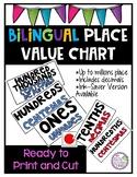 Bilingual Place Value Chart