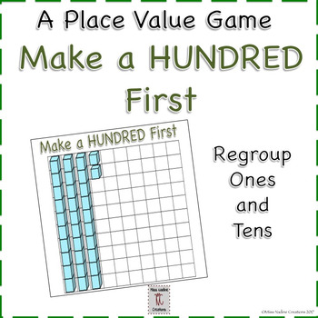 Bilingual:Place Value Game: Make 100 by Regrouping Ones and Tens