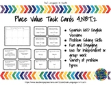 Bilingual Place Value Task Cards: Spanish and English 4.NBT.2