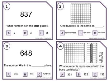 Bilingual:Place Value-task cards-  BUNDLE- 2nd Grade 2.NBT.A.1/a/b(Eng/Sp)