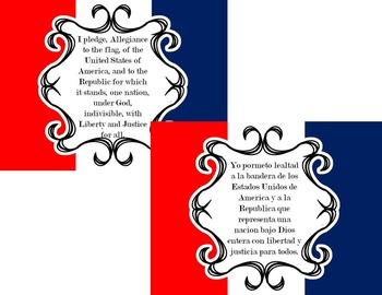 Bilingual Pledge of Allegiance