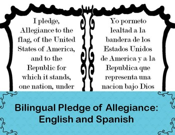 Bilingual Pledge of Allegiance