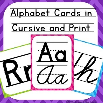 Alphabet Cards in Cursive and Print