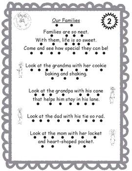 Bilingual Poem of the Week: Las familias Bundle