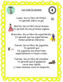 Bilingual Poem of the Week: Leo toda la semana Bundle