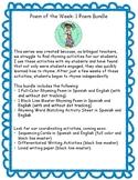 Bilingual Poem of the Week: Los meses del año Bundle