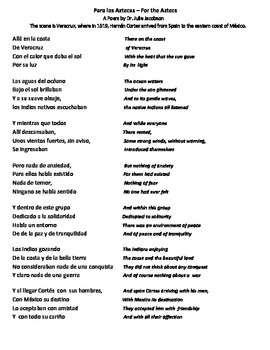 Poetry Analysis / Guiding Questions & Terms (English & Spanish)