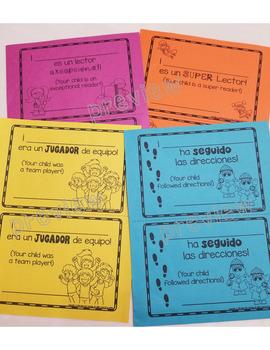 Bilingual Positive  Notes Home; Notas Positivas