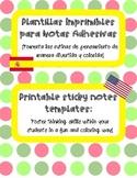 Bilingual: Post-Its para los alumnos (Critical Thinking)