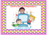 Bilingual Pre-K Learning Centers Signs And Labels