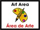 Bilingual Preschool Area Signs with Black Border (English/Spanish)
