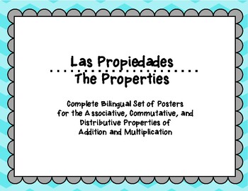 Bilingual Properties of Addition and Multiplication Posters