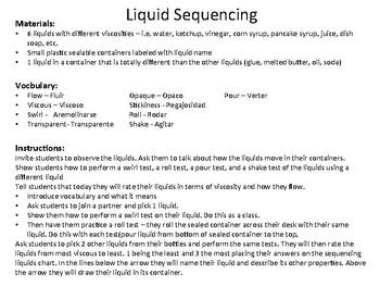 Bilingual Properties of Liquids Science