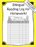 Bilingual Reading Log for Homework FREEBIE!