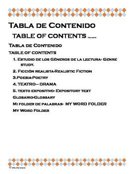 Bilingual Reading Journal