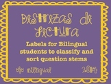 Bilingual Reading - Question Labels